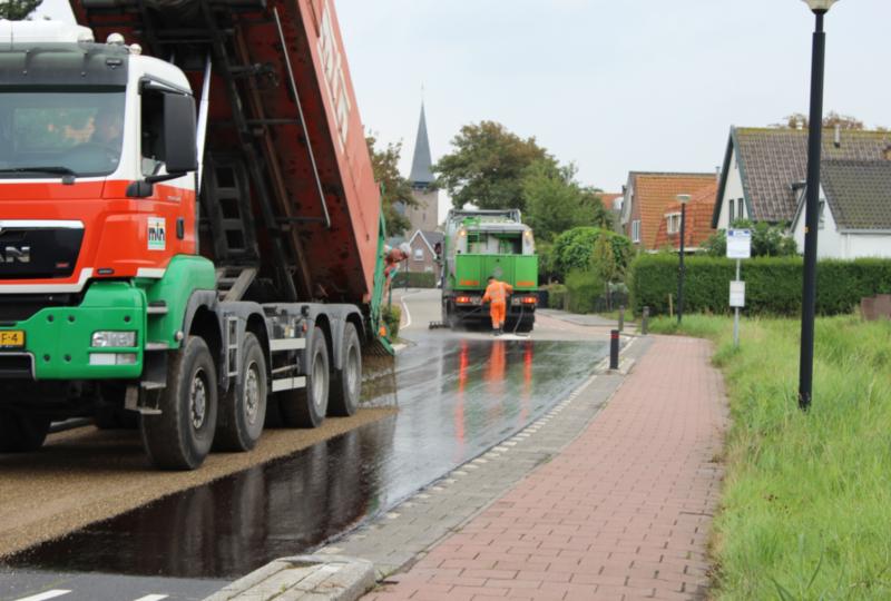 Slijtlaag Herenweg Egmond ad Hoef 2018